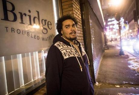 Bridge Over Troubled Waters' shelter in Boston focuses on helping young adults such as Anthony Rodrigues, 20.